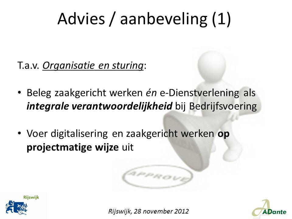 Advies / aanbeveling (1)