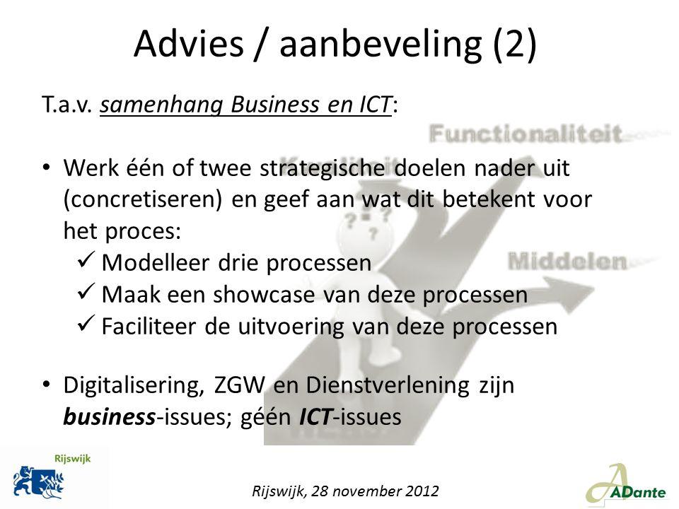 Advies / aanbeveling (2)