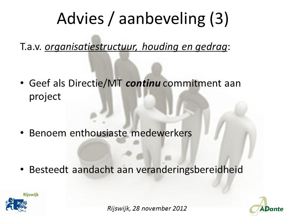 Advies / aanbeveling (3)