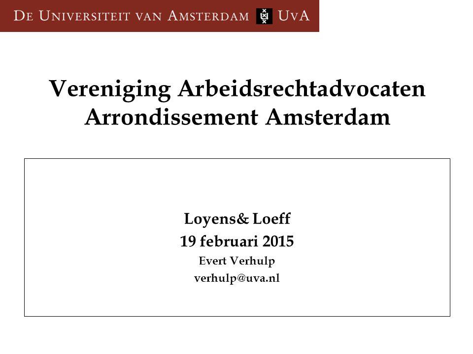 Vereniging Arbeidsrechtadvocaten Arrondissement Amsterdam