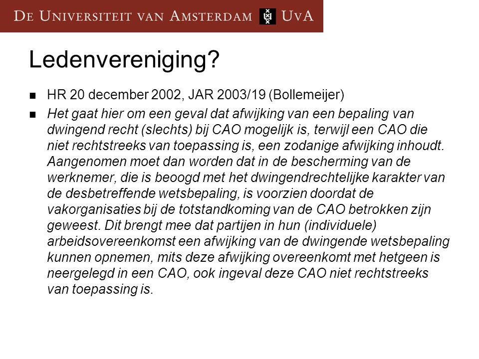 Ledenvereniging HR 20 december 2002, JAR 2003/19 (Bollemeijer)
