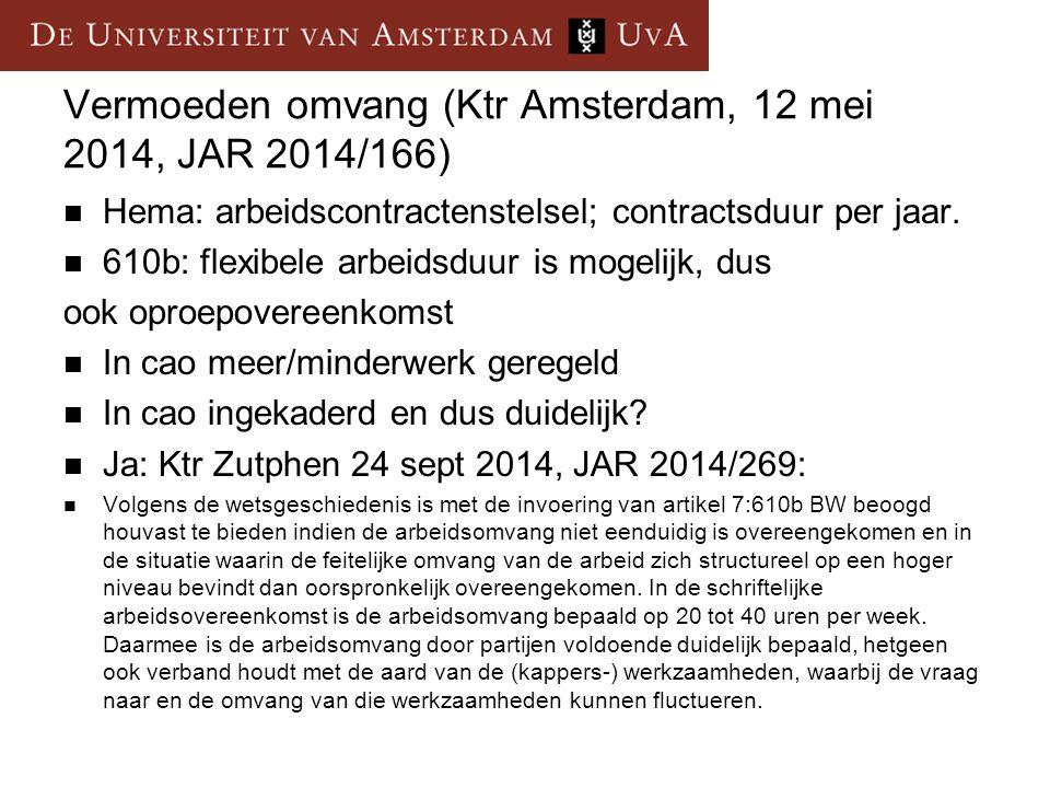Vermoeden omvang (Ktr Amsterdam, 12 mei 2014, JAR 2014/166)
