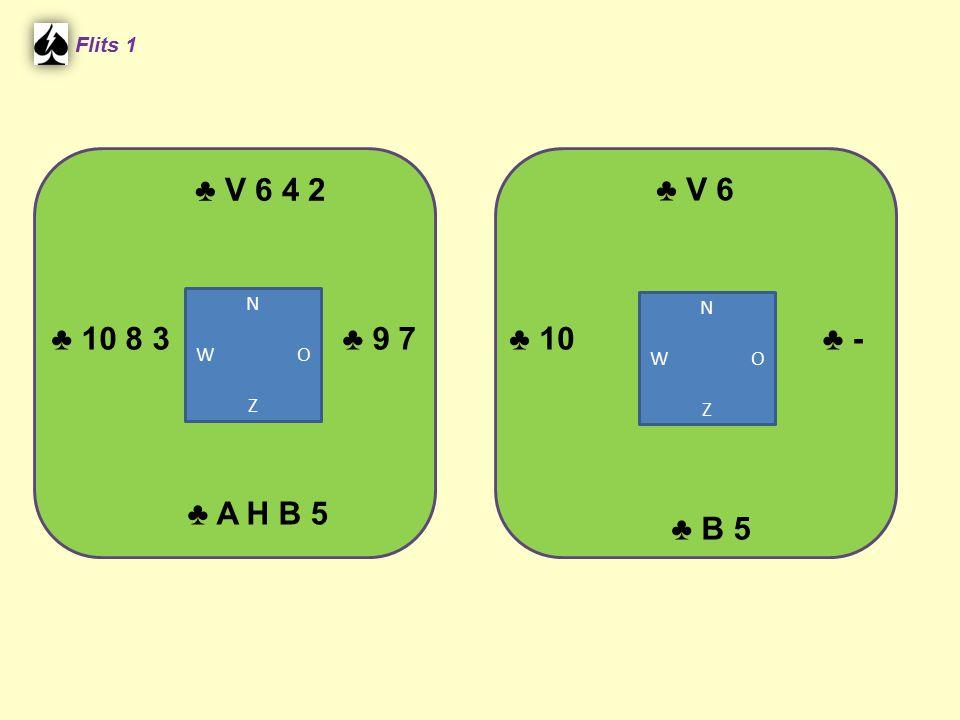♣ V 6 4 2 ♣ V 6 ♣ 10 8 3 ♣ 9 7 ♣ 10 ♣ - ♣ A H B 5 ♣ B 5 Flits 1 N N
