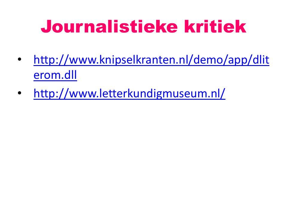 Journalistieke kritiek