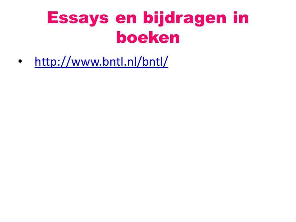 Essays en bijdragen in boeken