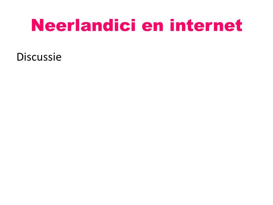 Neerlandici en internet