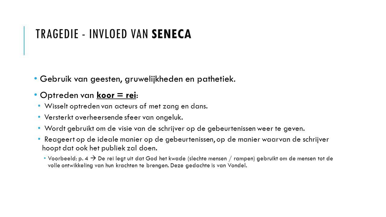 tragedie - Invloed van Seneca