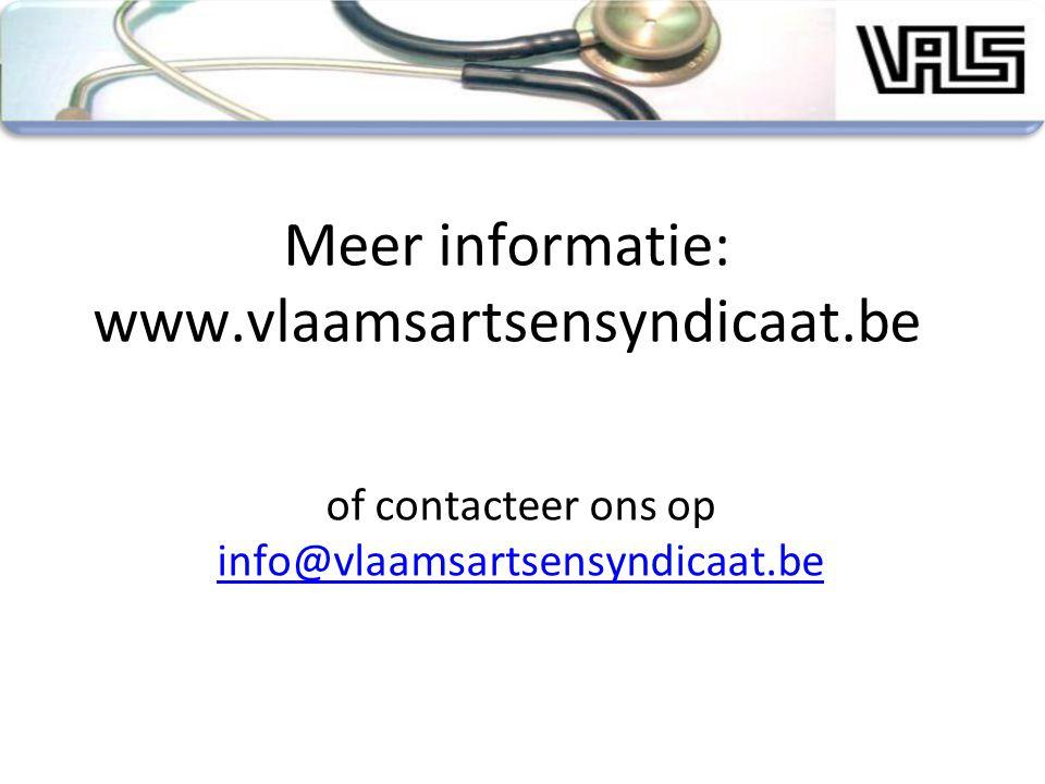 Meer informatie: www.vlaamsartsensyndicaat.be