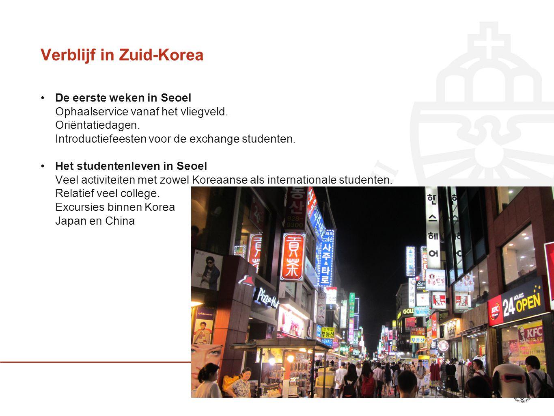 Verblijf in Zuid-Korea