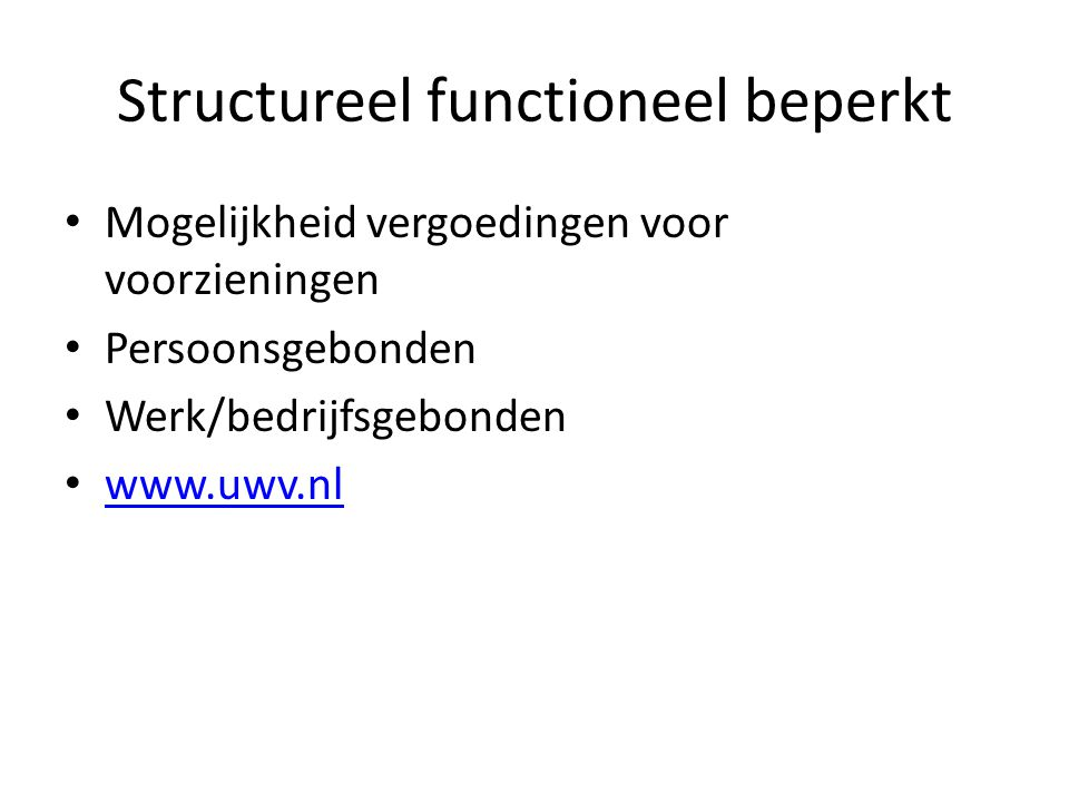 Structureel functioneel beperkt