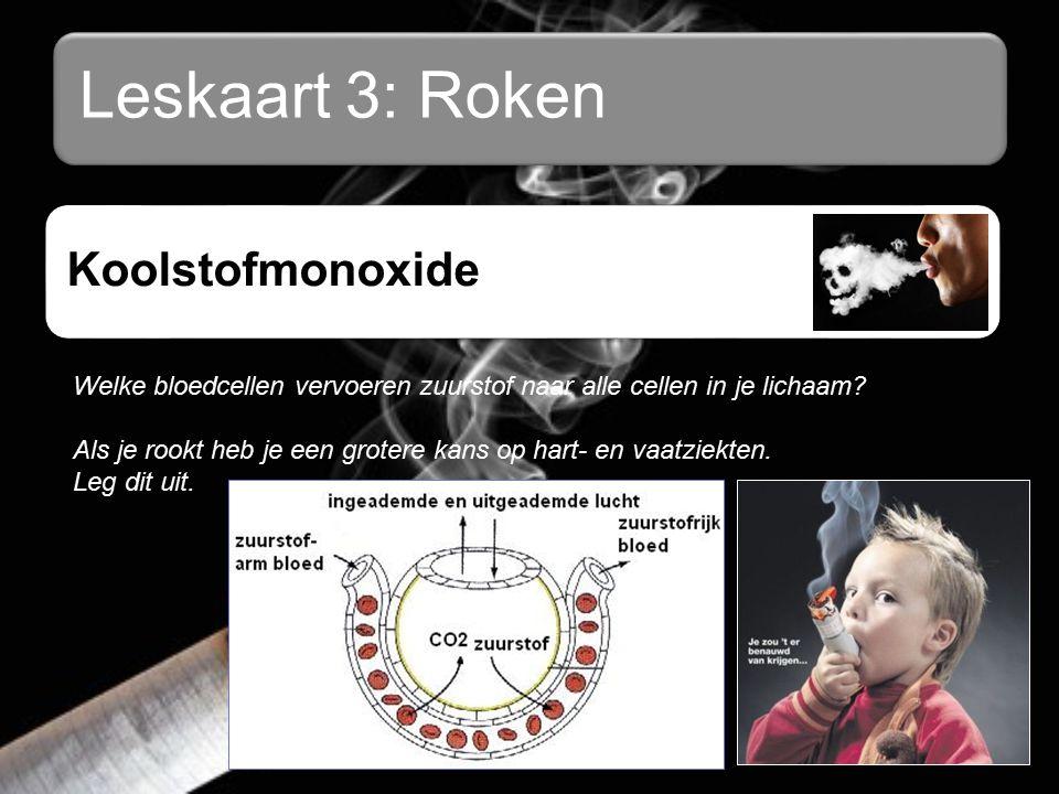Leskaart 3: Roken Koolstofmonoxide