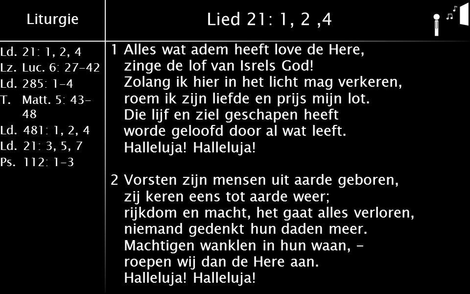 Lied 21: 1, 2 ,4