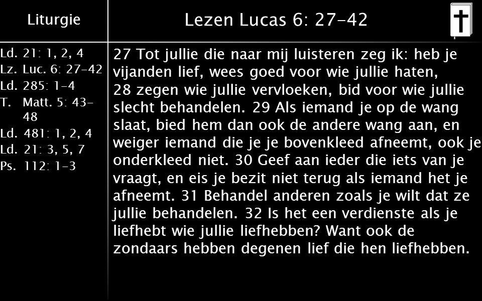 Lezen Lucas 6: 27-42