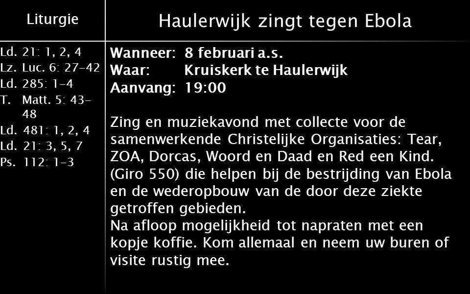Haulerwijk zingt tegen Ebola