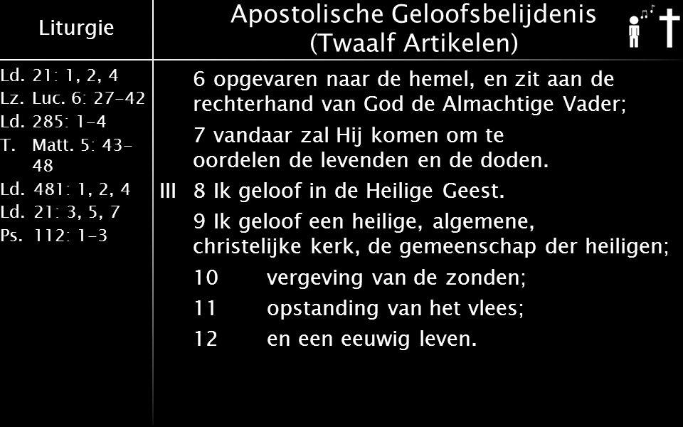 Apostolische Geloofsbelijdenis (Twaalf Artikelen)