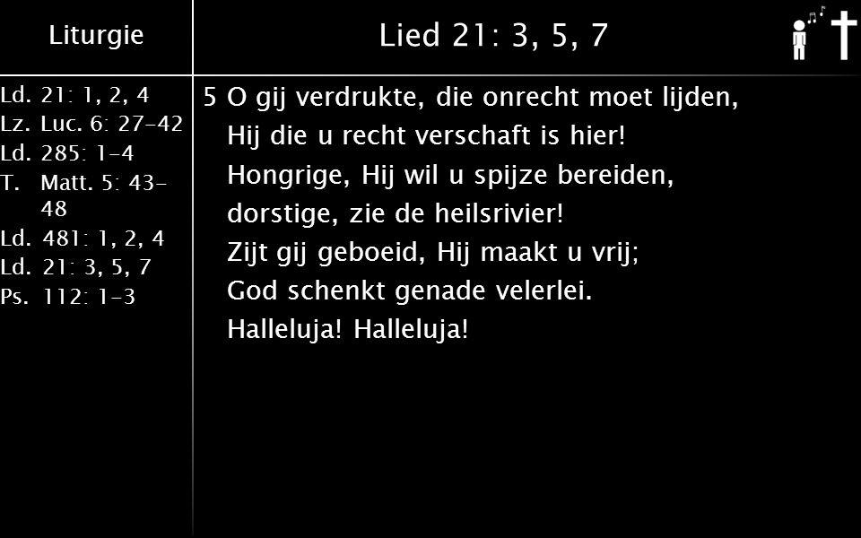 Lied 21: 3, 5, 7