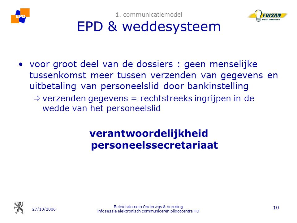 1. communicatiemodel EPD & weddesysteem
