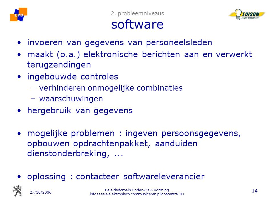 2. probleemniveaus software