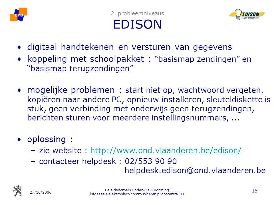 2. probleemniveaus EDISON