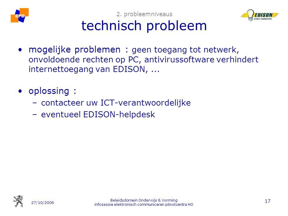 2. probleemniveaus technisch probleem