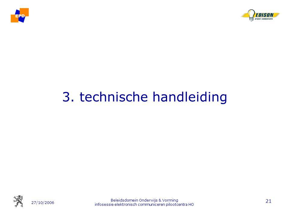 3. technische handleiding