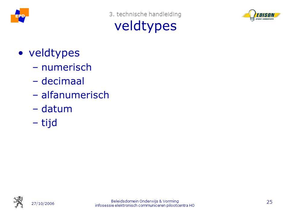 3. technische handleiding veldtypes