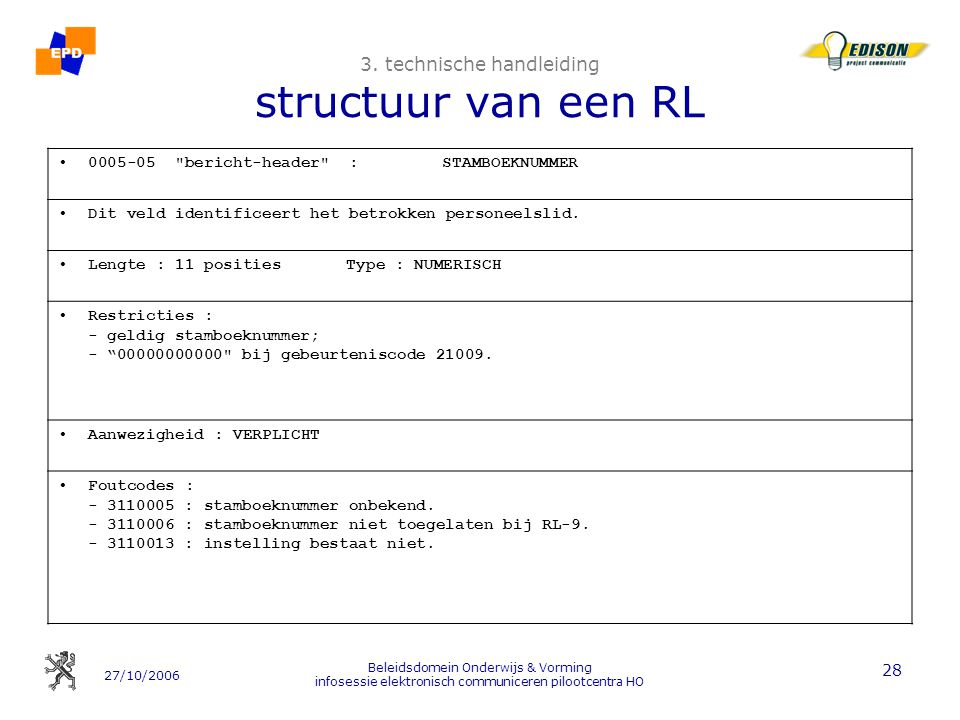 3. technische handleiding structuur van een RL