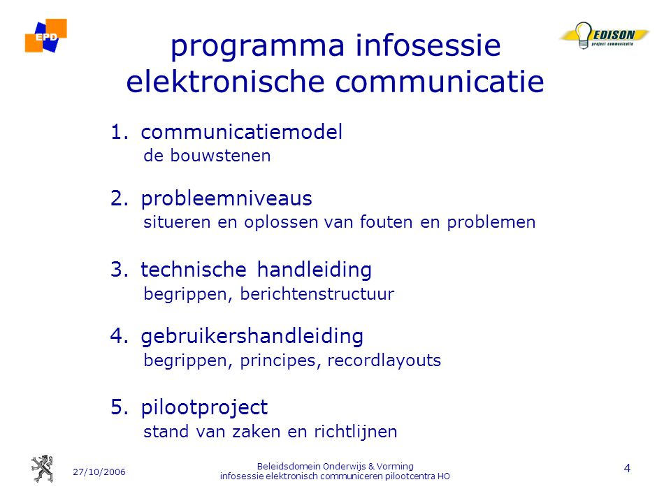 programma infosessie elektronische communicatie