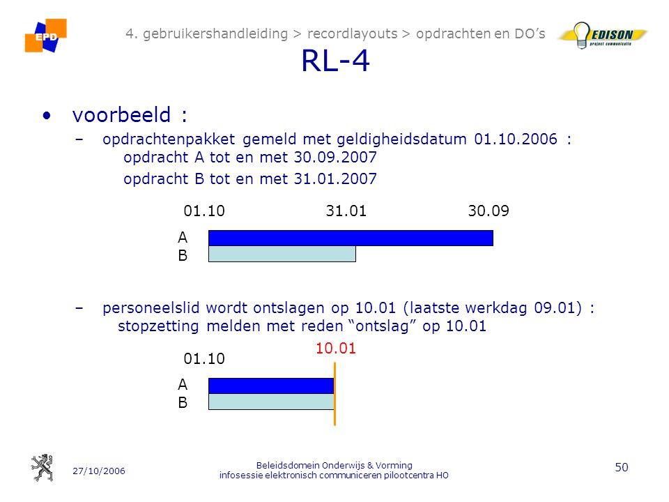 4. gebruikershandleiding > recordlayouts > opdrachten en DO's RL-4