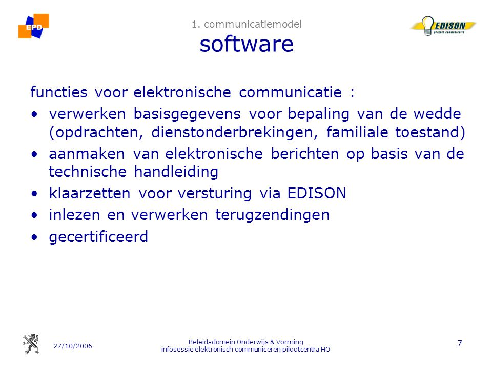 1. communicatiemodel software