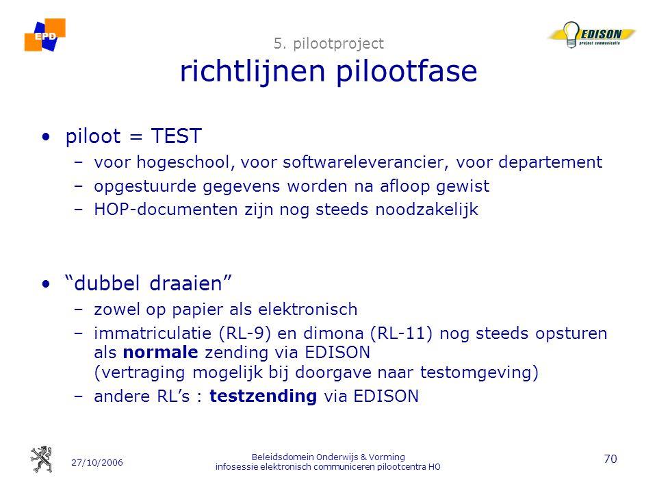 5. pilootproject richtlijnen pilootfase