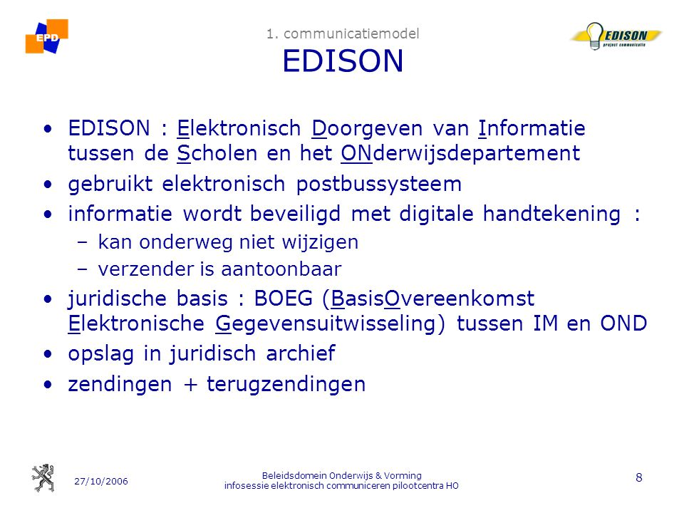 1. communicatiemodel EDISON