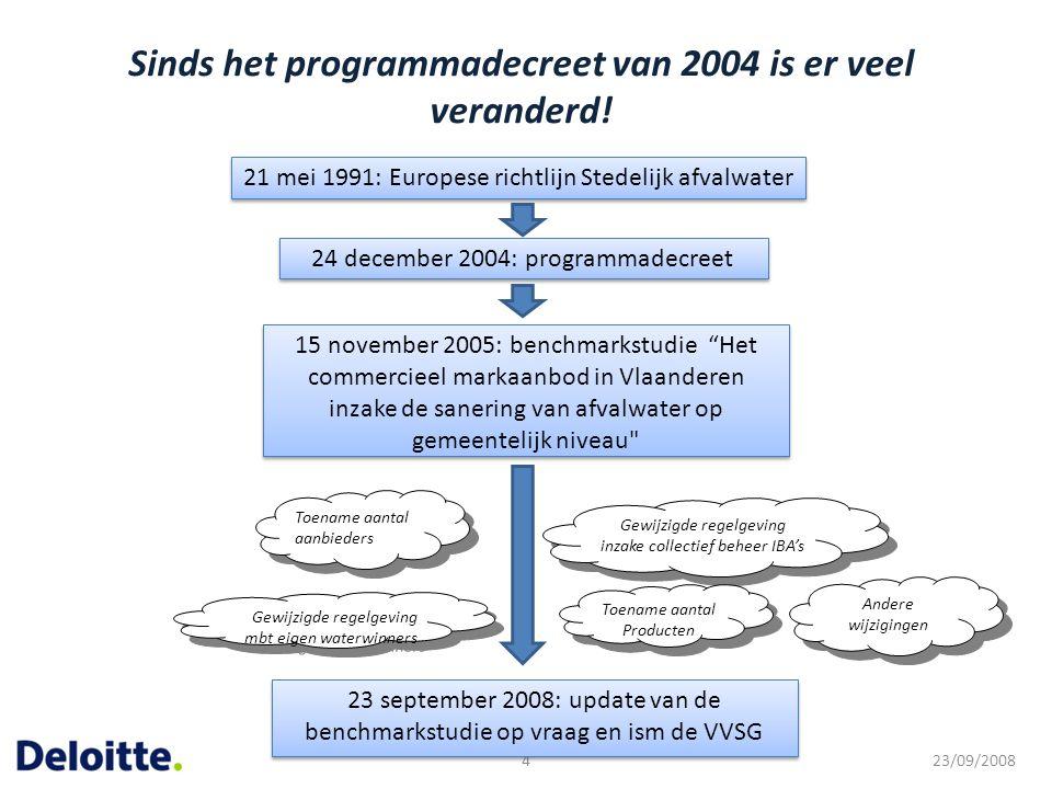 Sinds het programmadecreet van 2004 is er veel veranderd!