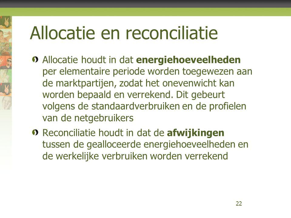 Allocatie en reconciliatie