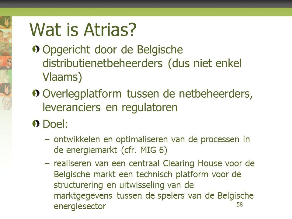 Wat is Atrias Opgericht door de Belgische distributienetbeheerders (dus niet enkel Vlaams)