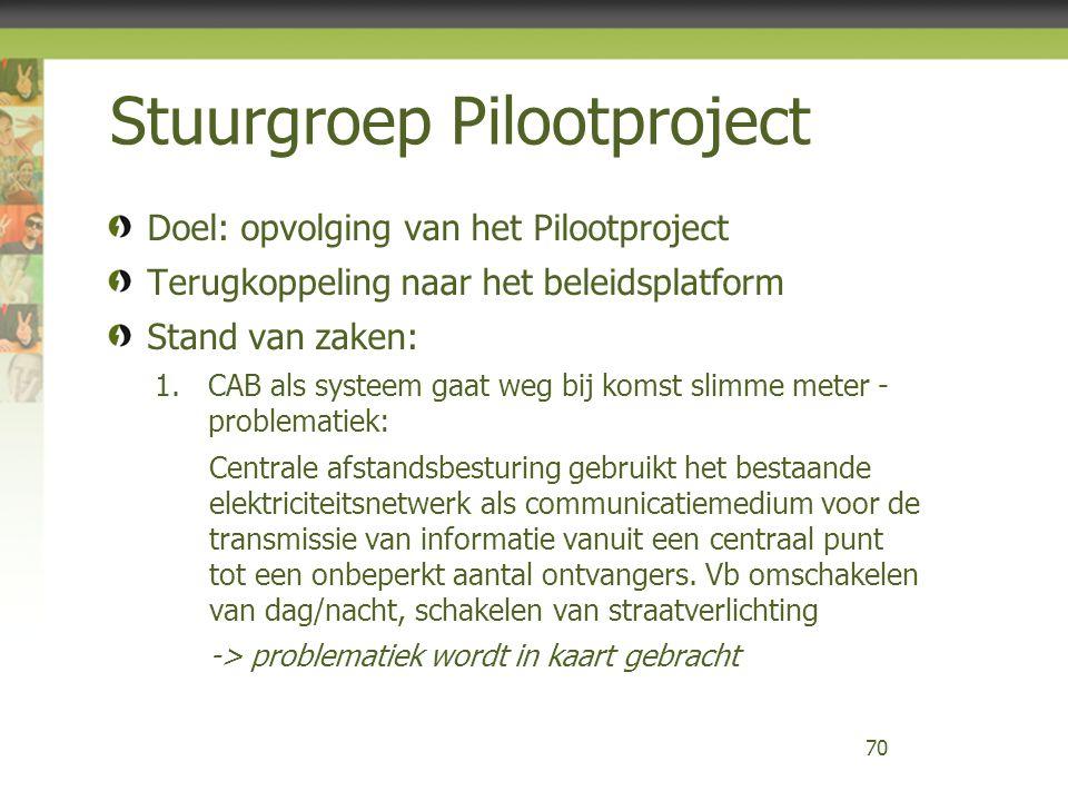 Stuurgroep Pilootproject
