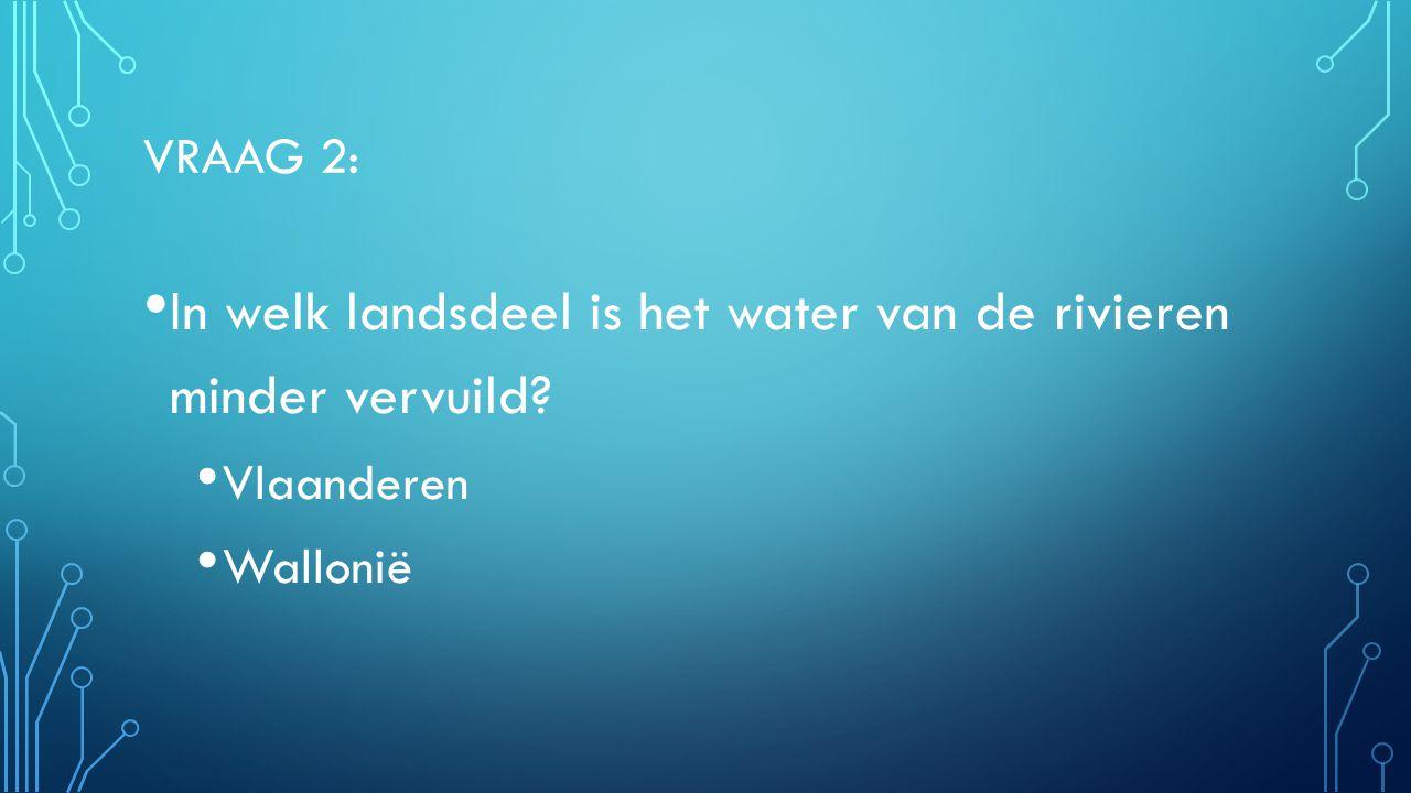 In welk landsdeel is het water van de rivieren minder vervuild