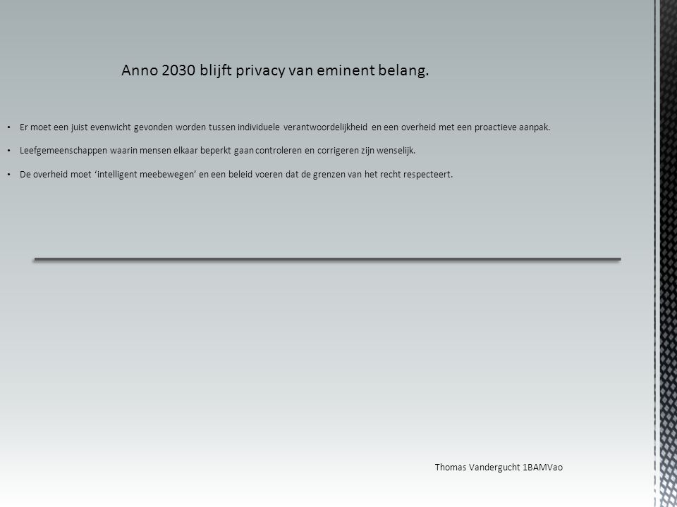 Anno 2030 blijft privacy van eminent belang.