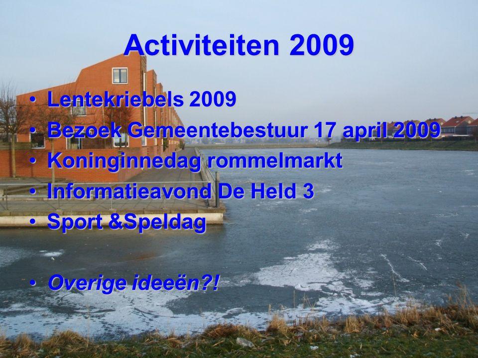 Activiteiten 2009 Lentekriebels 2009