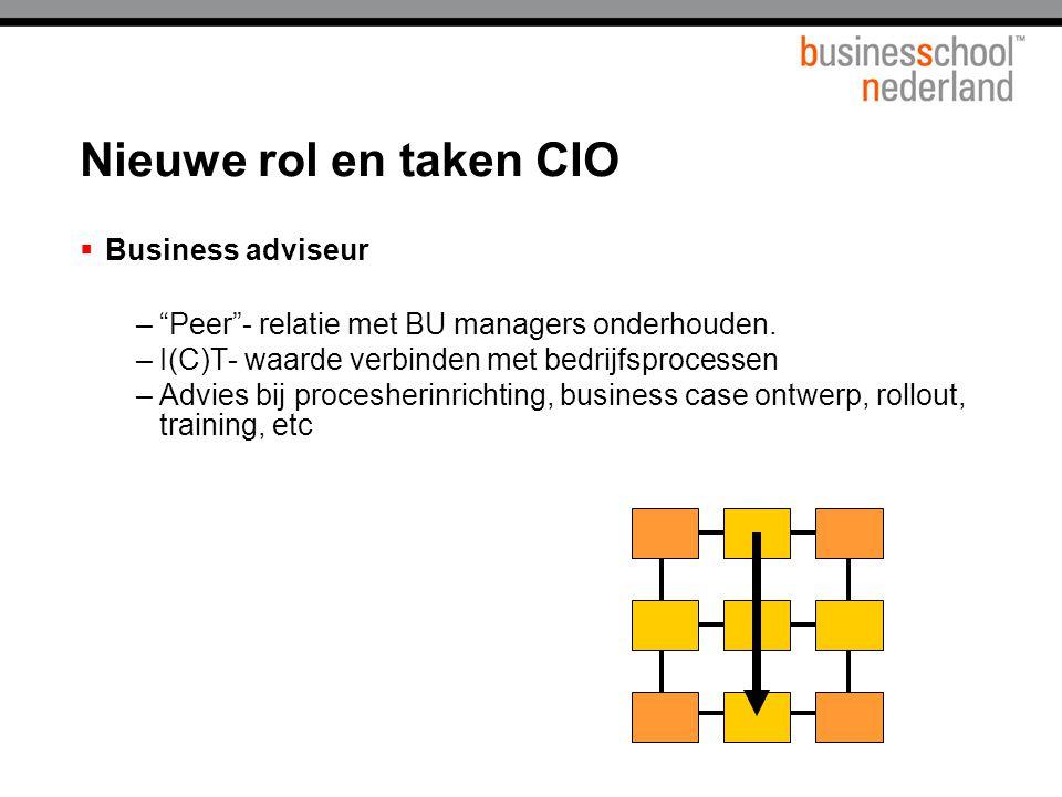 Nieuwe rol en taken CIO Business adviseur