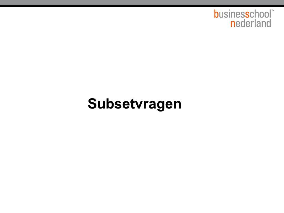 Titel presentatie Subsetvragen Gemeente Amsterdam 1 januari 2003