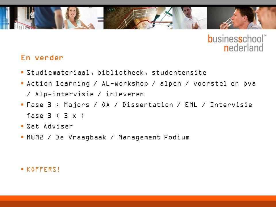 En verder Studiemateriaal, bibliotheek, studentensite