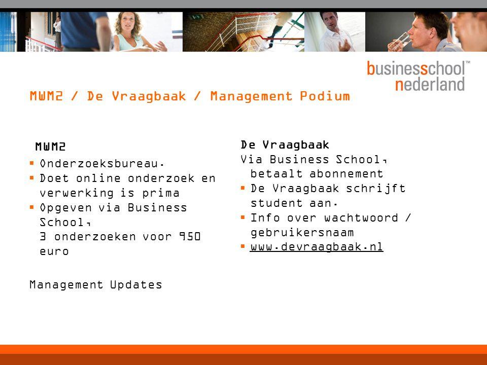 MWM2 / De Vraagbaak / Management Podium