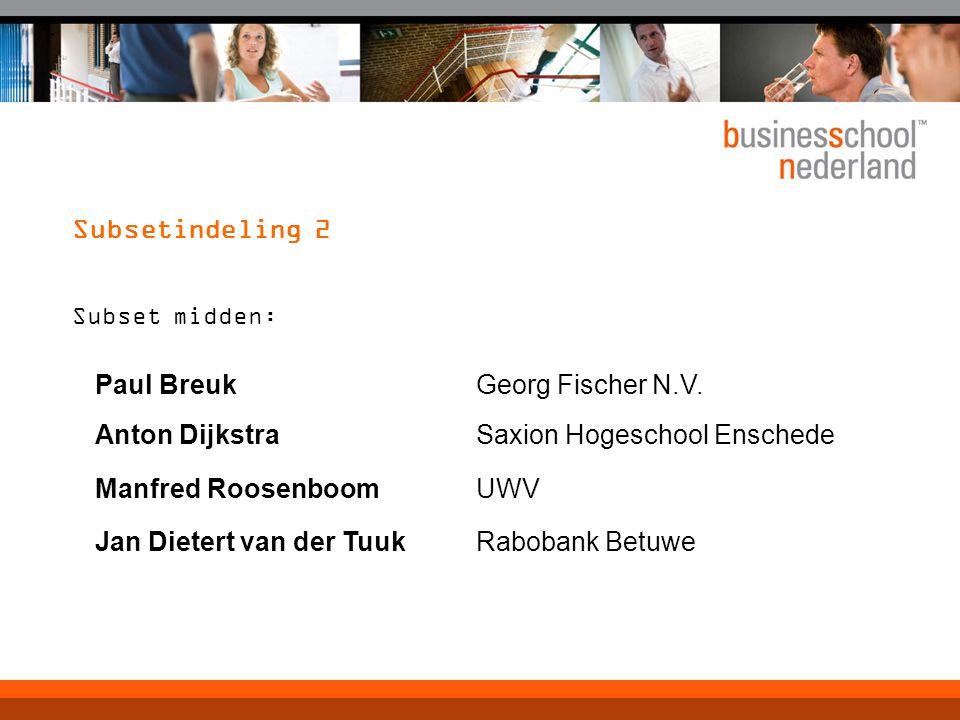 Saxion Hogeschool Enschede Manfred Roosenboom UWV