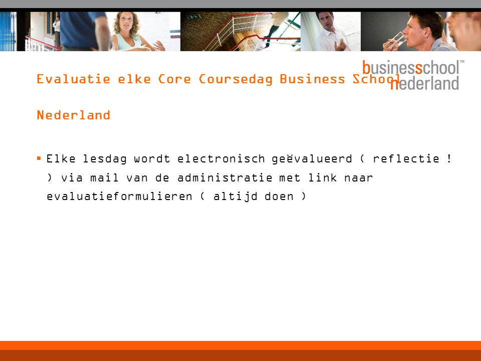 Evaluatie elke Core Coursedag Business School Nederland