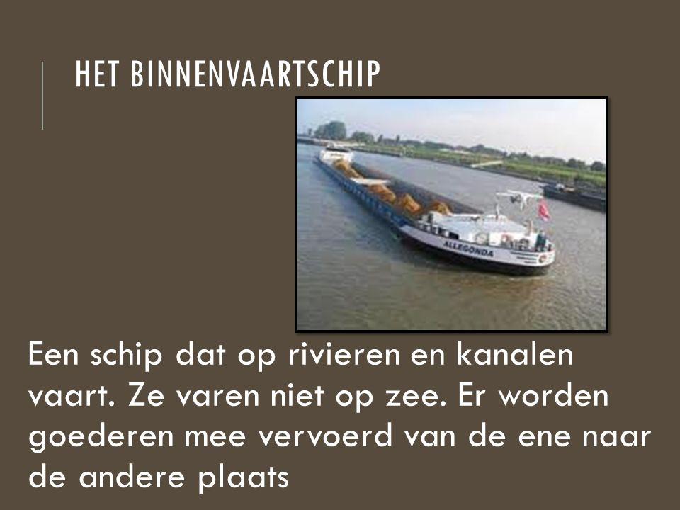 Het binnenvaartschip