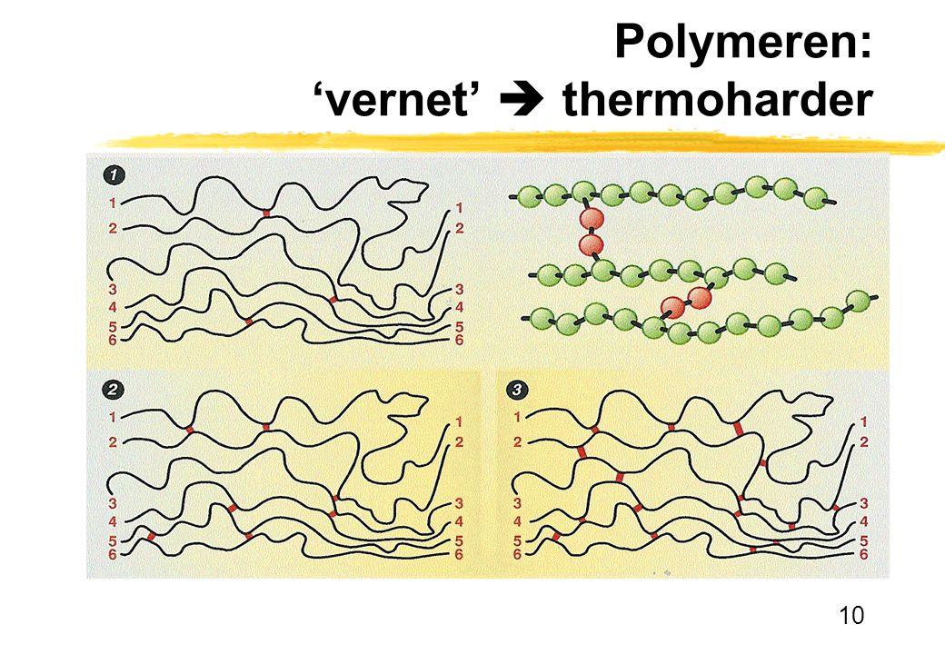 Polymeren: 'vernet'  thermoharder
