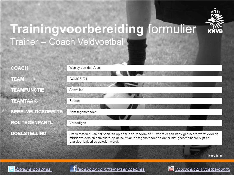 Trainingvoorbereiding formulier