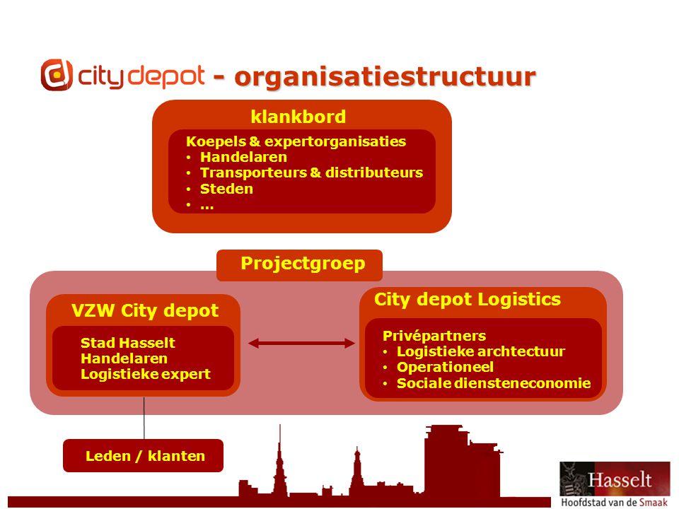 CityDepot - organisatiestructuur