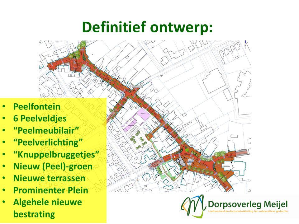 Definitief ontwerp: Peelfontein 6 Peelveldjes Peelmeubilair